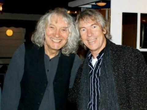 With guitarist Albert Lee, after a jam in Malibu.